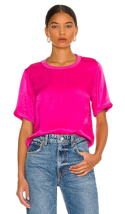 Nights In The City Silk Tee LA Made $88 NEW