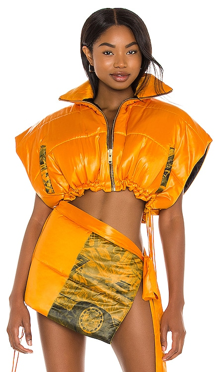 Cropped Puffer Vest LaQuan Smith $1,295