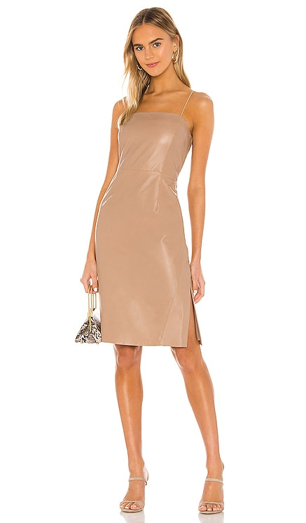 Victoria Leather Mini Dress LAMARQUE $515 NEW ARRIVAL