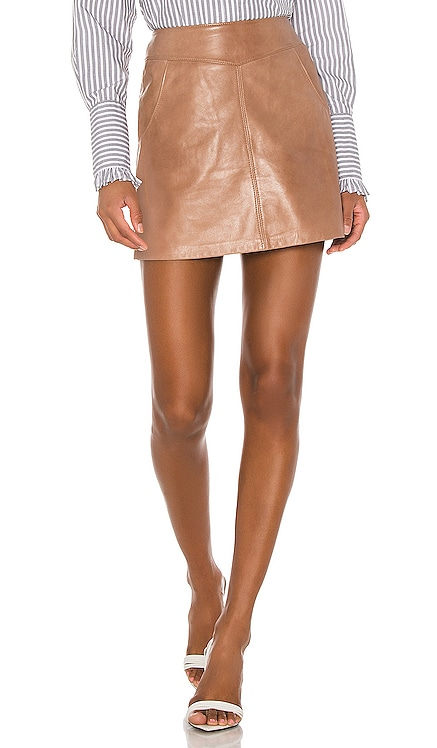 Peggy Leather Mini Skirt LAMARQUE $266