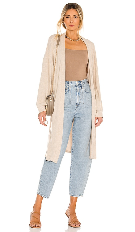 Ruby Ribbed Cardigan LBLC The Label $146 NEW