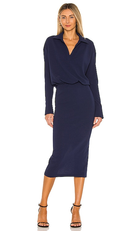 Collared Drop Waist Dress L'Academie $188