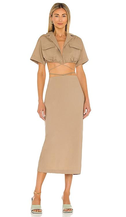 Julia Midi Dress L'Academie $218 BEST SELLER