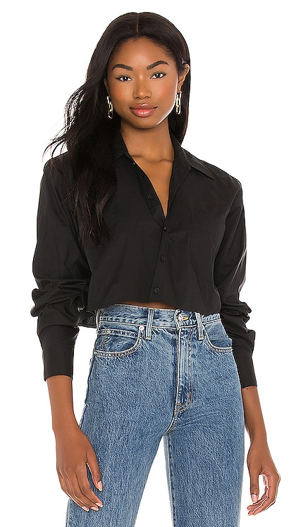 Cropped Button Down Top L'Academie $138