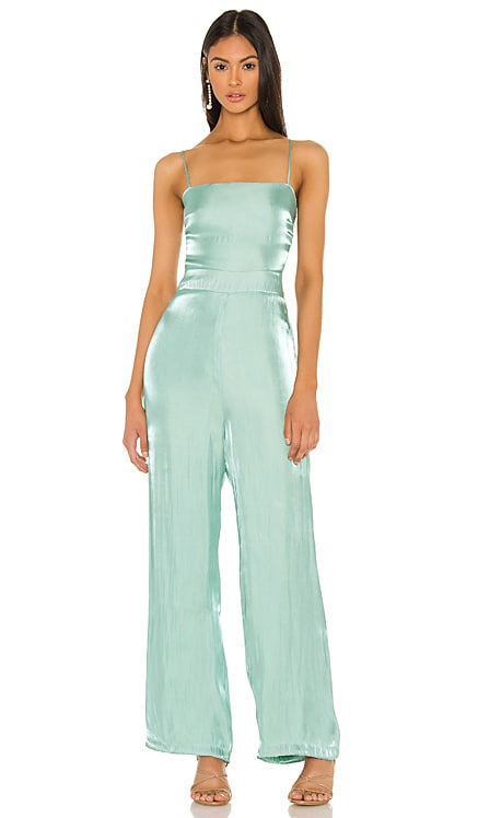 Peyton Tie Back Jumpsuit Line & Dot $56