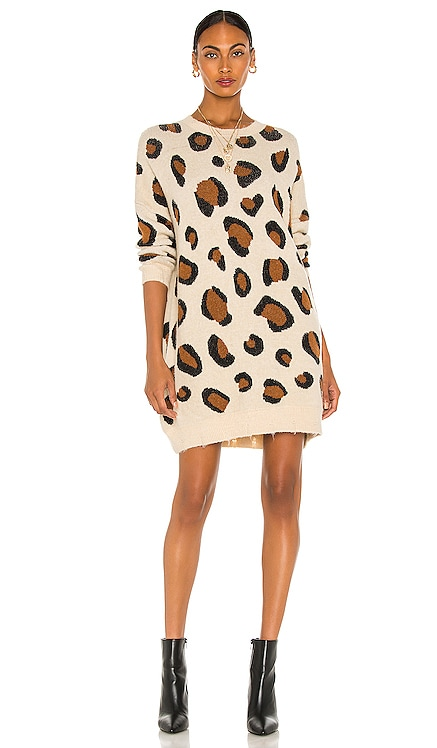 Gianna Leopard Print Dress Line & Dot $104 NEW