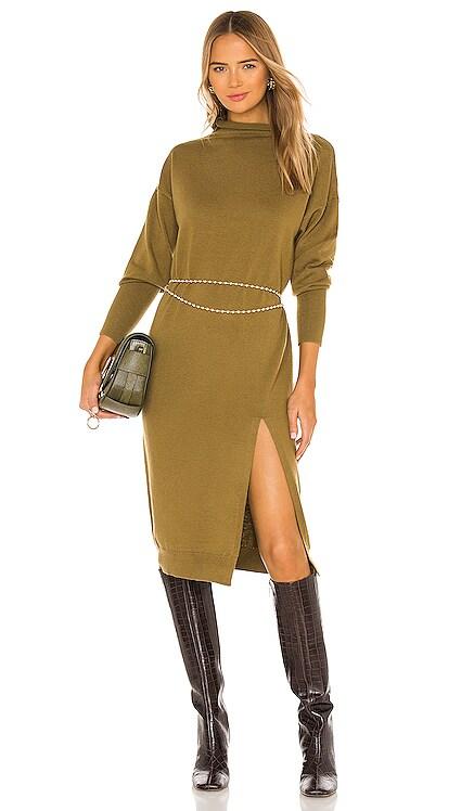 Beverly Mock Neck Dress Line & Dot $126 BEST SELLER