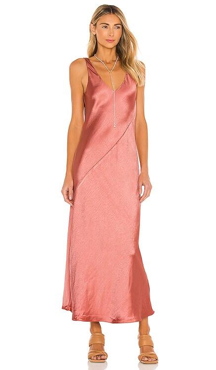 Loulou Satin Dress Line & Dot $88