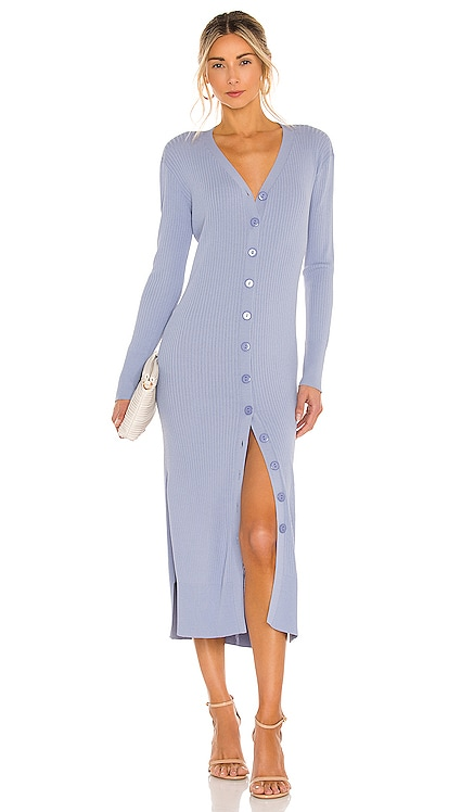 Simone Button Down Sweater Dress Line & Dot $136 NEW