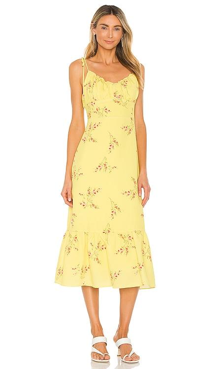 Hailey Floral Print Midi Dress Line & Dot $92 NEW