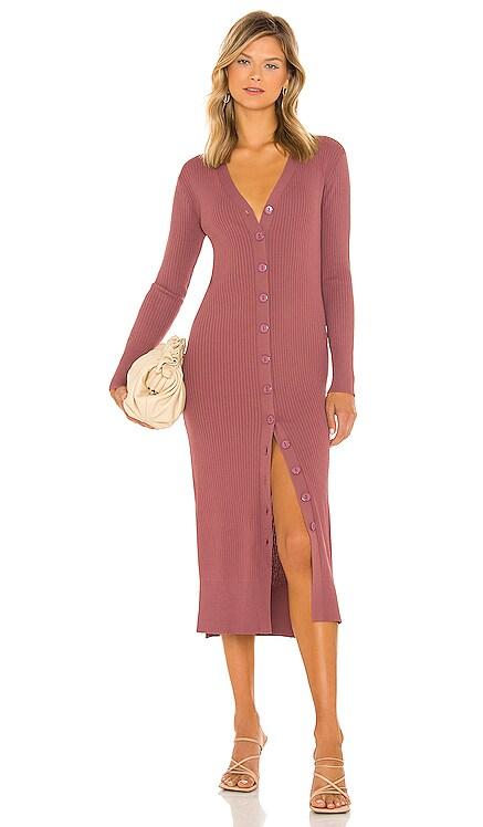 Simone Button Down Sweater Dress Line & Dot $136 NEW