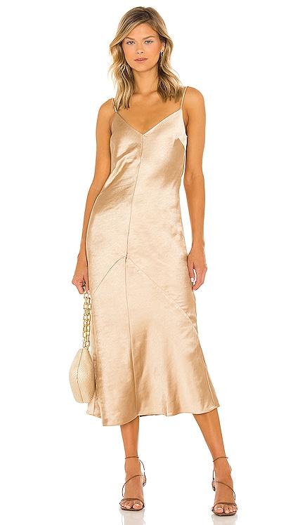 Dolly Satin Dress Line & Dot $104 NEW