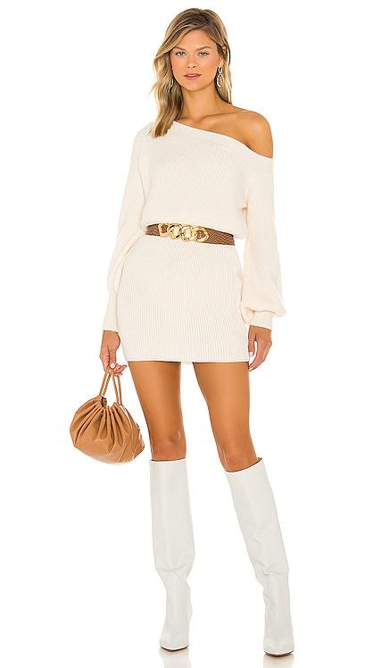 Rebecca Off the Shoulder Dress Line & Dot $92 NEW
