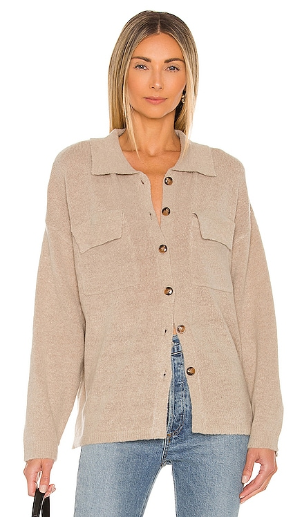 Alice Button Knit Down Sweater Line & Dot $97 NEW