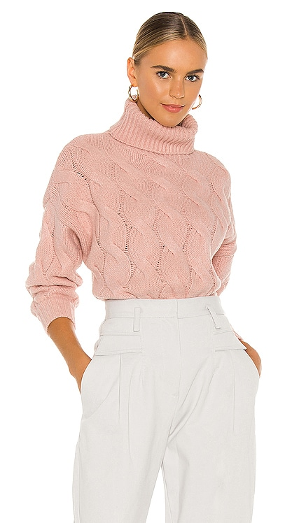 Aimee Cable Knit Sweater Line & Dot $92 NEW