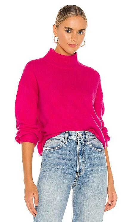 Julia Mock Neck Sweater Line & Dot $92 NEW
