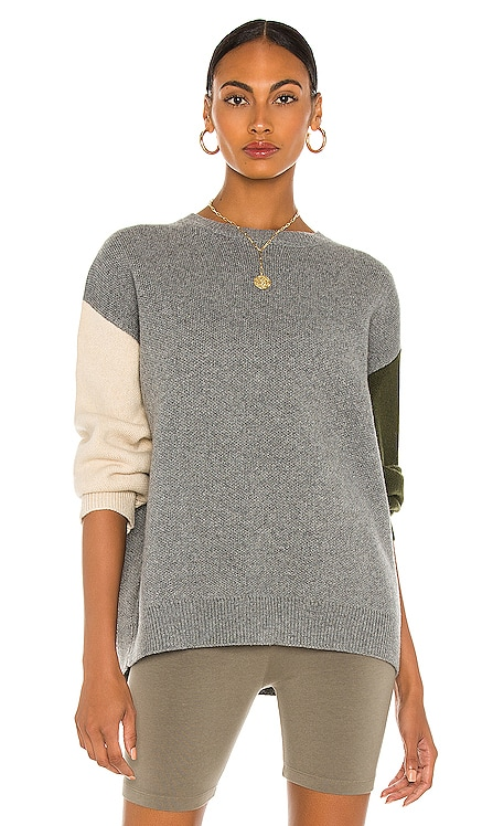 Dani Color Blocked Knit Sweater Line & Dot $84