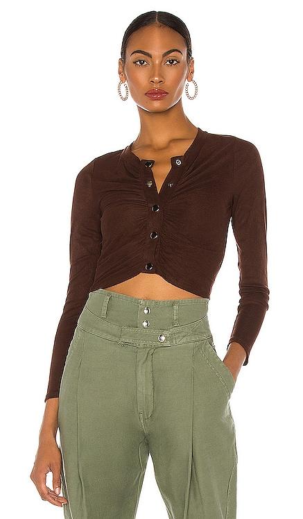 Ribbed Long Sleeve Top Line & Dot $54