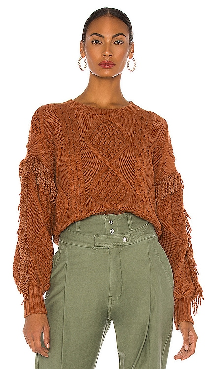 Jasper Fringe Sweater Line & Dot $113