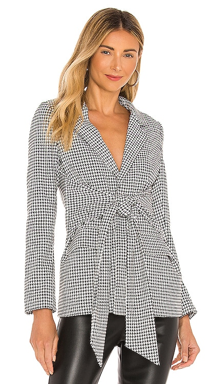 Georgette Blazer Line & Dot $147 NEW