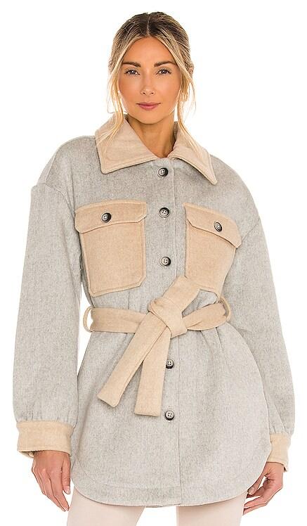 Harrison Belted Jacket Line & Dot $265
