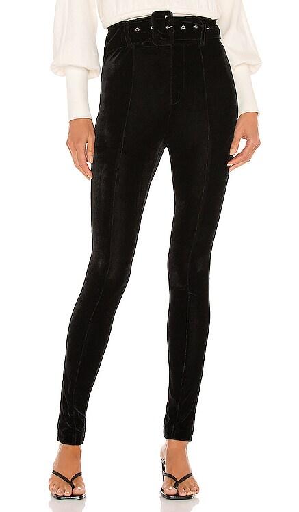 Kris Velvet Belted Pant Line & Dot $92 NEW