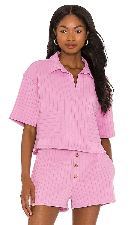 Bexley Collared Top Line & Dot $99 NEW