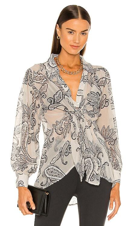 Isabel Paisley Print Tie Blouse Line & Dot $136 BEST SELLER
