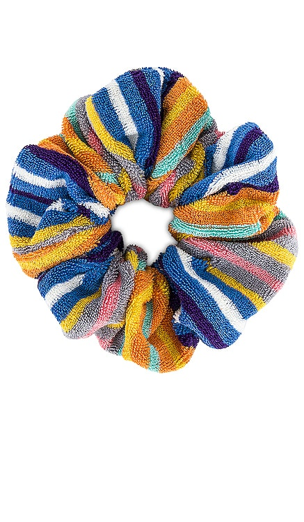 Striped Terry Cloth Oversized Scrunchie Lele Sadoughi $28 NEW