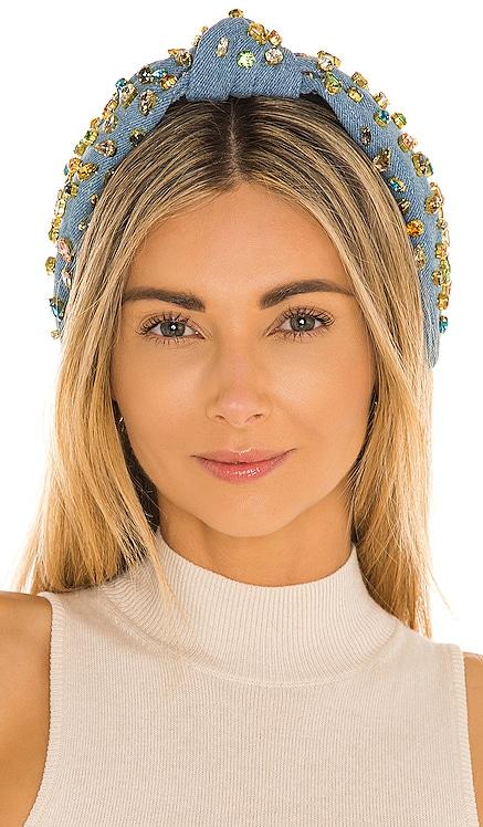 Denim Candy Jeweled Knotted Headband Lele Sadoughi $198 BEST SELLER