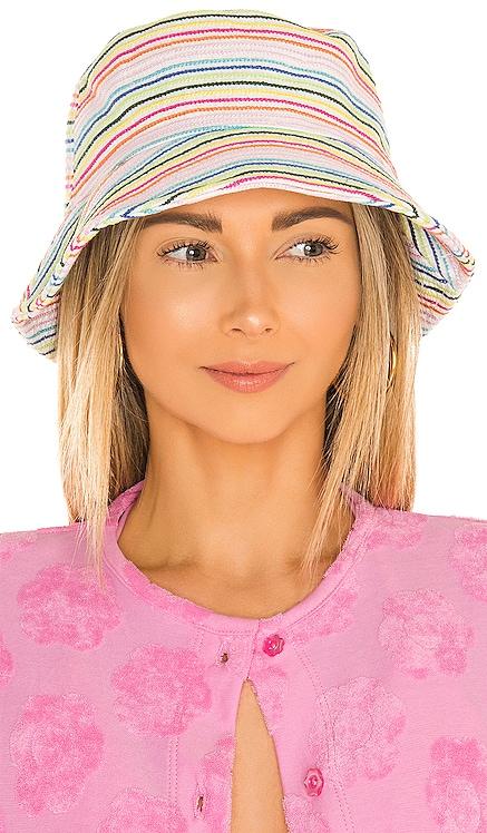 X Solid & Striped Bucket Hat Lele Sadoughi $125