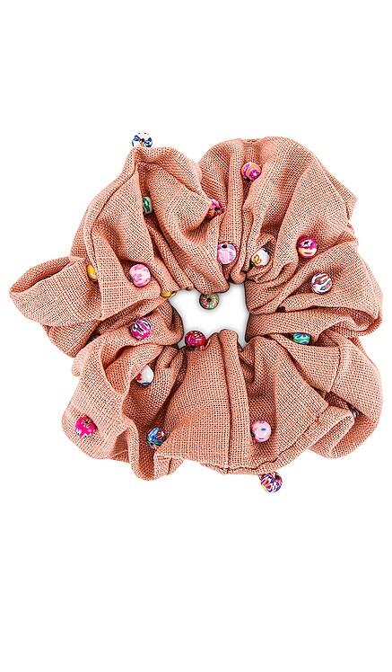Linen Millefiori Beaded Oversized Scrunchie Lele Sadoughi $35 NEW