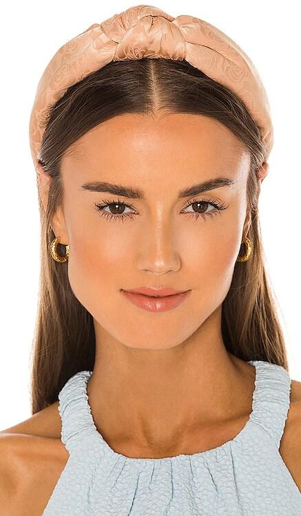 Rose Jacquard Knotted Headband Lele Sadoughi $65