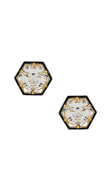 Swarovski Hexagon Studs Lele Sadoughi $245