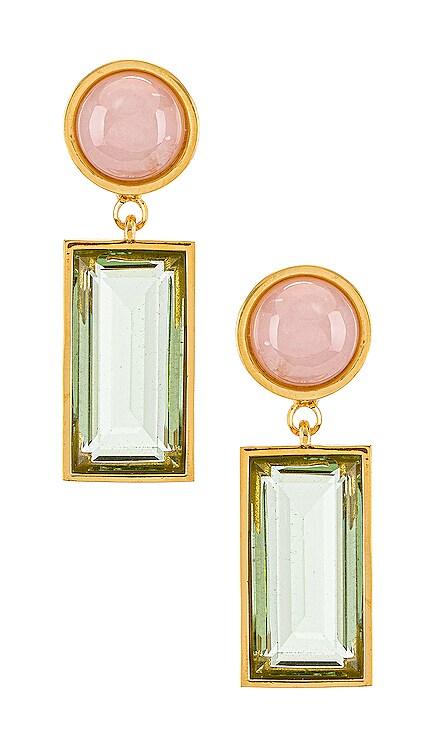 Crystal Column Earrings Lizzie Fortunato $250