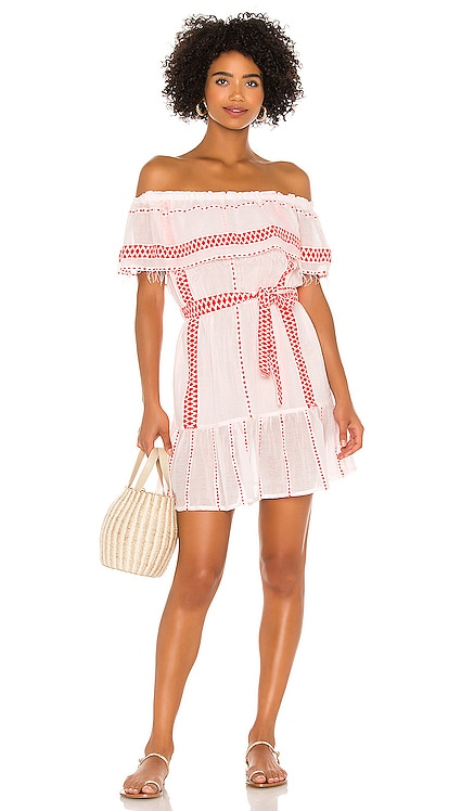 Jemari Off Shoulder Ruffle Dress Lemlem $295 NEW