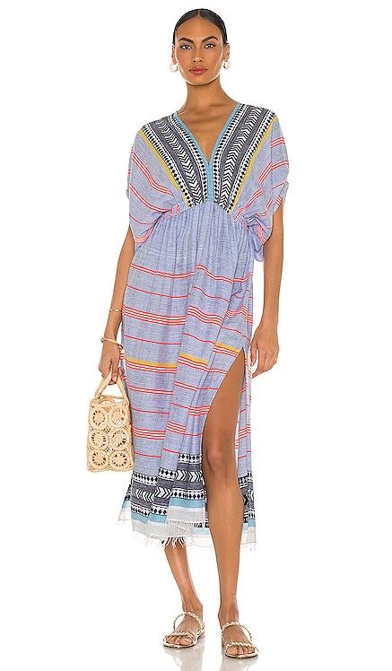 Neela Plunge Neck Dress Lemlem $395 NEW