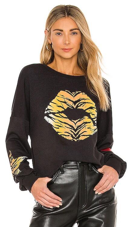 Sierra Tiger Lip Sweatshirt Lauren Moshi $110 NEW