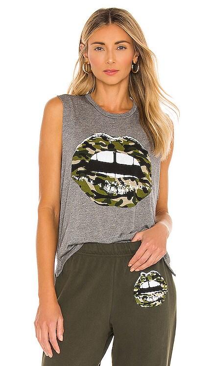 Kinzington Camo Lip Tank Lauren Moshi $97 BEST SELLER
