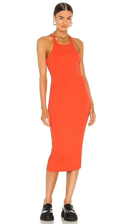 Skinny Racer Midi Tank Dress LNA $138 NEW