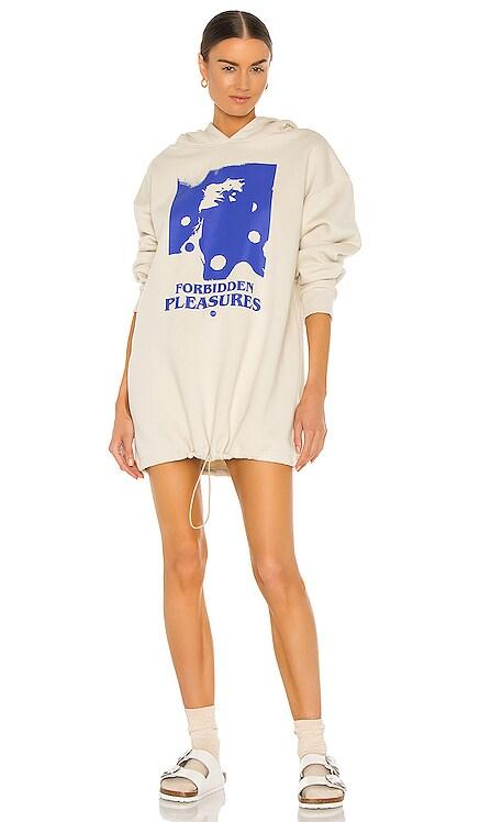 Forbidden Pleasures Hoodie Dress Local Heroes $101 NEW