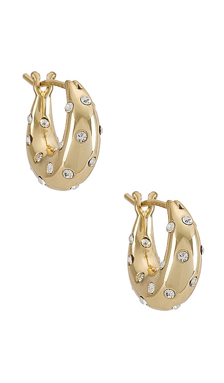 Adeline Mini Dome Hoops Loeffler Randall $95 NEW