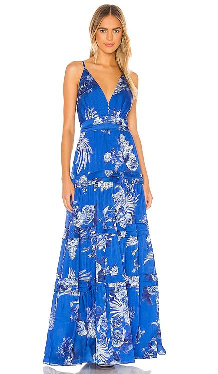 Blue Bird Long Dress IORANE $690 NEW