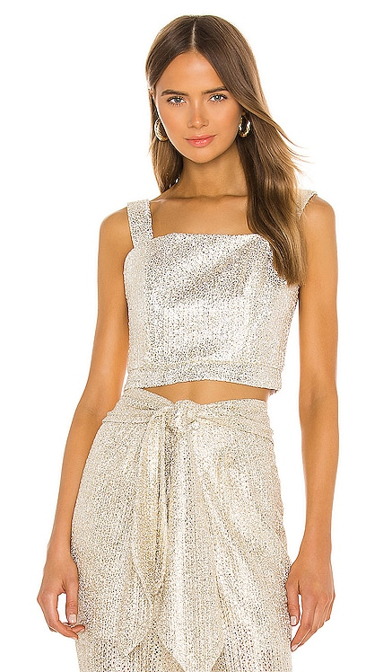 TOP CROPPED METALLIC IORANE $195