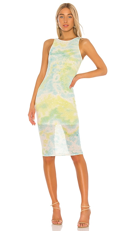 Harriet Midi Dress Lovers + Friends $198 NEW ARRIVAL