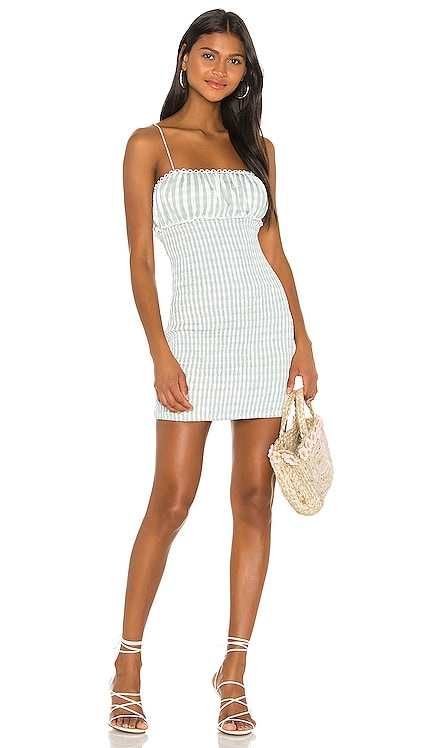Cute as Can Be Mini Dress Lovers + Friends $198 NEW ARRIVAL