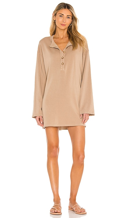 Hailey Henley Sweatshirt Dress Lovers + Friends $168 NEW