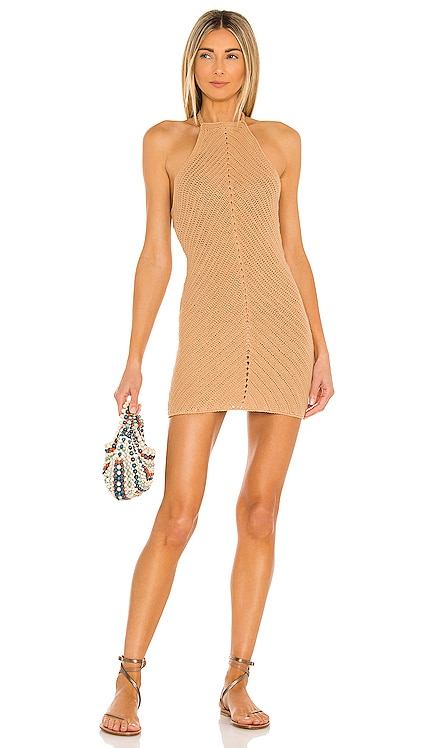 Equator Crochet Halter Dress Lovers + Friends $198 NEW