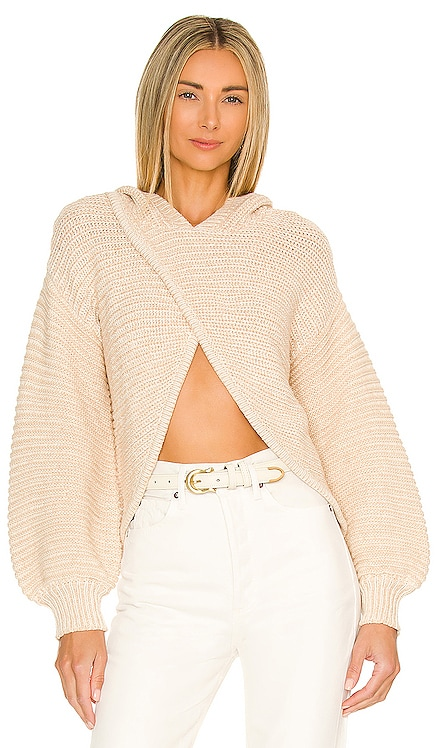 Andrea Crossover Hooded Sweater Lovers and Friends $188 NEW