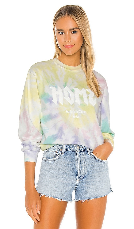 Home Rock Tour Sweatshirt Lovers + Friends $198 NEW